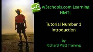 Learning HTML with w3schools.com - Lesson Number 1