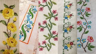 Latest Cross Stitch Border Design || Cross Stitch Embroidery Stitches