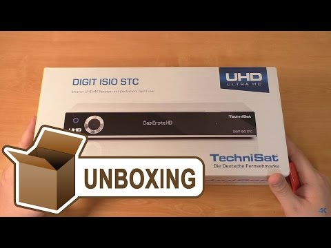 TECHNISAT Digit ISIO STC - UHD/4K Receiver UNBOXING