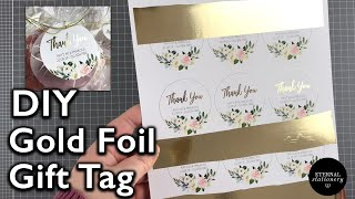 How To Gold Foil | DIY Gold Foiled Gift Tags |  Heidi Swapp Minc