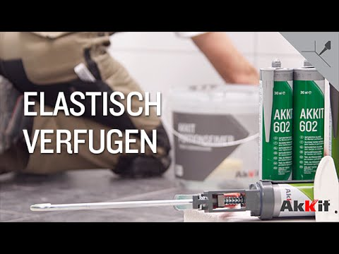 Elastisch verfugen mit Akkit Sanitär-Silikon