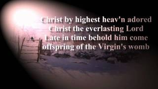 Hark the herald angels sing karaoke - organ band instrumental music with lyrics - Christmas songs