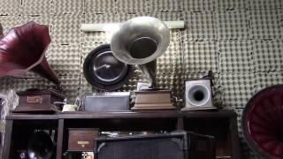 Dorus Haring: Zilveren meeuwen. You see a G&T junior monarch gramophone.