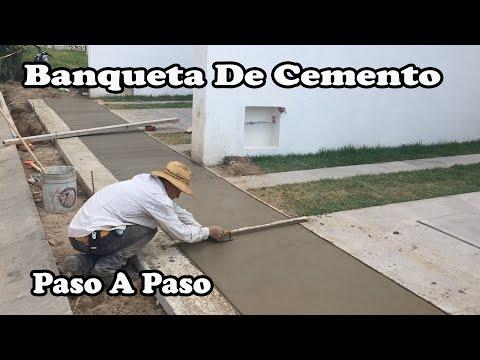Banqueta De Cemento