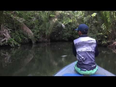 Casting on small river with Gong Lei.