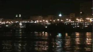 preview picture of video 'Night Time on the Nile River at Aswan أسوان - Egypt'