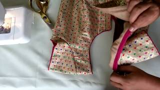 How To Sew Piping Without Cord In Neckline || Neck Piping Without Thread In Malayalam