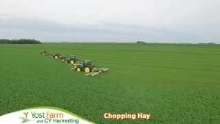Yost Farm CY Harvesting Chopping Hay 2015