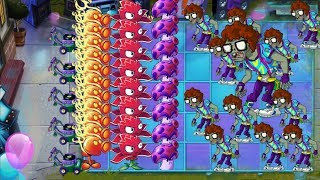 Plants vs Zombies 2 - Fire Peashooter, Red Stinger and Spore Shroom