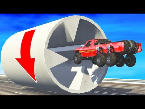 BeamNG.Drive - Impossible  car stunts #11