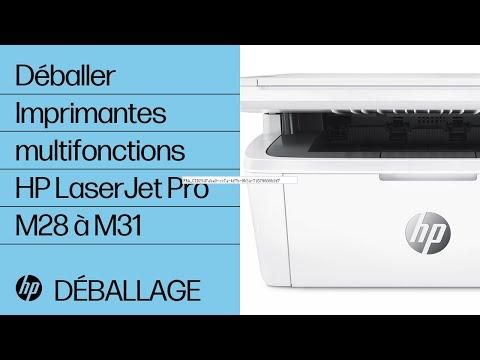Déballer les imprimantes multifonctions HP LaserJet Pro M28 à M31