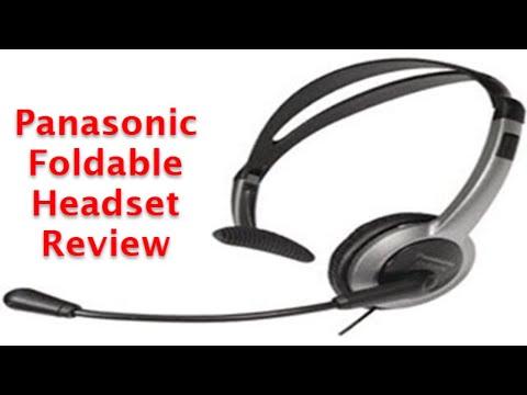 Panasonic Foldable Headset - A Review