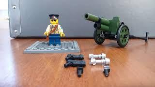 Как собрать пистолет пулемёт из LEGO!!!!!!