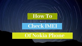 Nokia Mobile IMEI Check