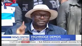 Highridge Demos: Local leaders lead protests over alleged school land grabbing incident