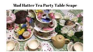 Mad Hatter Tea Party Table-scape