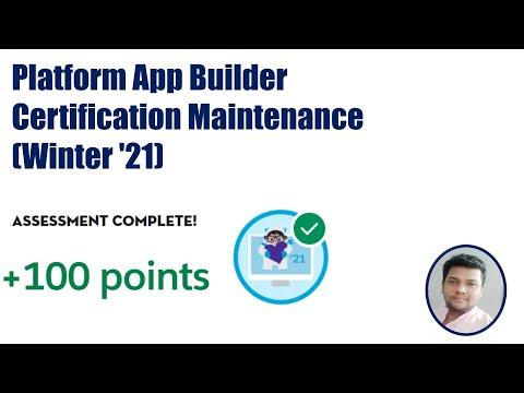 Platform App Builder Certification Maintenance (Winter '21) - YouTube