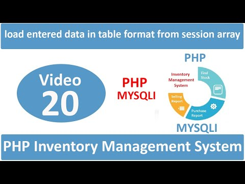 how to load entered data in table format from session array in admin side in php ims