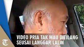 Viral Video Pria Tak Mau Ditilang seusai Langgar Jalur Busway, Mengaku Kenal Pejabat Polisi