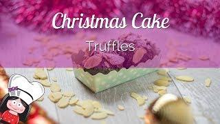 Christmas Cake Truffles Recipe - Christmas Cake Pops Without Stick