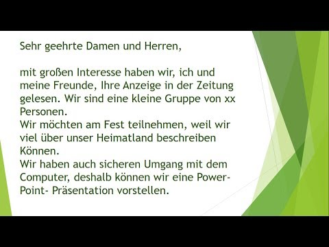 Deutsche Brief A1 A2 B1 Prüfung 47 Youtube Download
