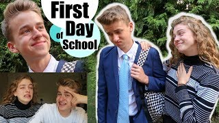 My Lil Bro's First Day Back at School (Year 11 UK!) 🙈 *chaos and rants*