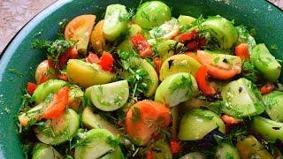 Маринованные зеленые помидоры. Как замариновать зеленые помидоры.  Мамины рецепты