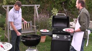 BBQ Dragon starting a Charcoal Grill Vs. a Gas Grill