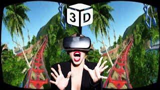 VR Video 3D VR Roller Coaster VR  3D SBS for Google Cardboard VR Box 3D 360 VR Headset