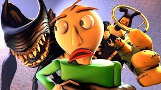 Beast Bendy & Brute Boris VS. Baldi (Bendy And The Ink Machine Chapter 5 Animation SFM)