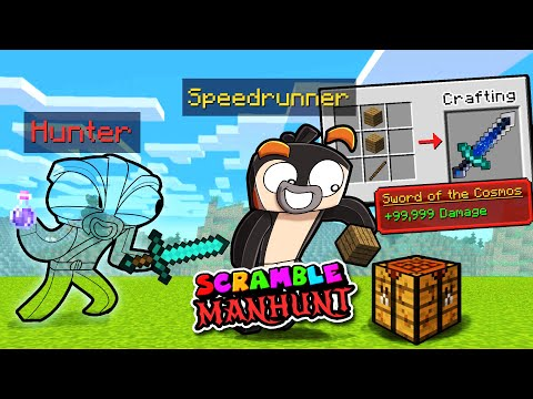 Manhunt Scramble Craft 1v1! (Speedrunner vs Hunter)