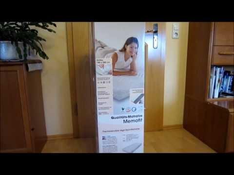 Dormia Memofit Qualitätsmatratze von ALDI * Erste Eindrücke * November 2013 * Review
