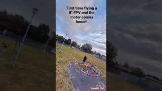 """First time flying a 5"""" FPV drone with Insta360 Go2   Crash! #shorts"""