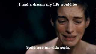 Anne Hathaway 2013 BEST AUDIO - I dreamed a dream - (SUB ENGLISH-ESPAÑOL)
