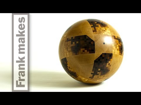 Turning a wooden World Cup Ball on a Lathe