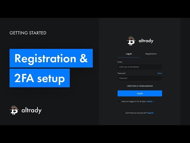 Registration & 2FA Setupp