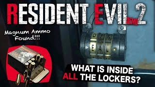 Resident Evil 2 Remake Demo | How To Get Magnum Ammo & Unlock ALL The Lockers SOLVED