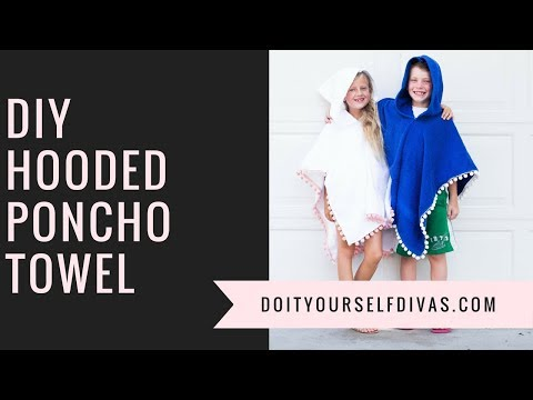 DIY Poncho Towel With Hood for Pool or Beach