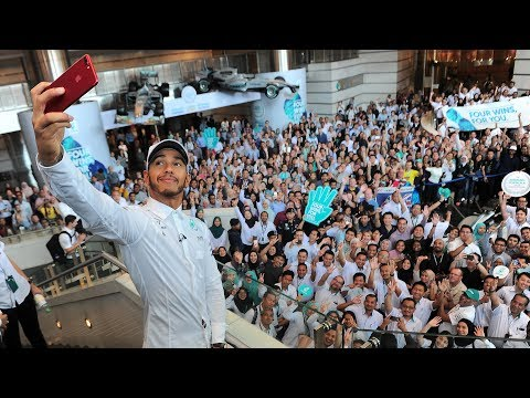 Lewis Celebrates 2017 F1 Titles with PETRONAS