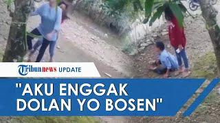 VIDEO VIRAL Anak Gadis Tega Dorong Ibu hingga Tersungkur ke Tanah Cuma Gara-gara Dilarang Pergi