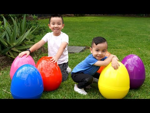 BIGGEST Easter Surprise Eggs Hunt Toys Opening Fun With CKN Toys