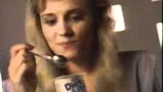 Australian Ad Danone Diet Lite Yogurt - 1989