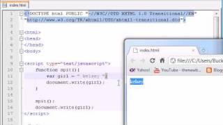Beginner JavaScript Tutorial - 11 - Global & Local Variables