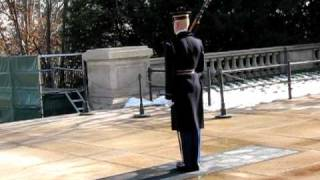 """Tomb Guard """"Walking the Mat"""" at the Tomb of the Unknowns at Arlington National Cemetery"""
