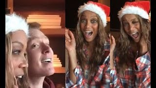 Tyra Banks & Clay Aiken ULTIMATE Christmas Duet GONE WRONG!!! (Carol of The Bells, Oh Holy Night)