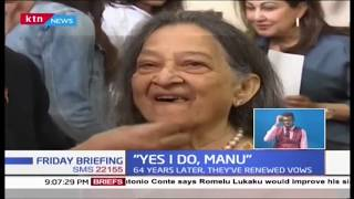 I DO: Businessman Manu Chandaria and his wife Aruna formalize their union after 64 years