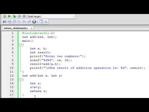 C Programming Tutorial – 45: Functions (Part-3) Return Statement