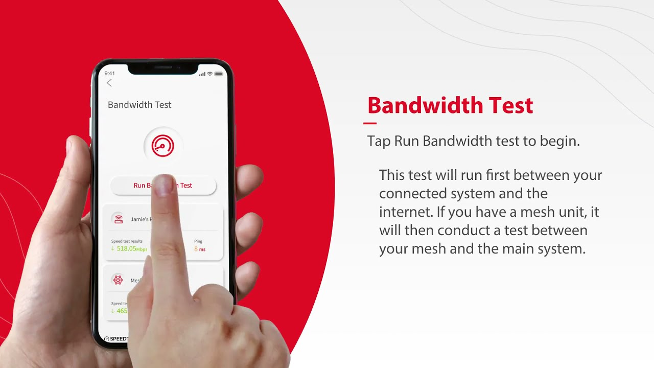Nex-Tech Wi-Fi Manager - Performing a Bandwidth Test Using the App