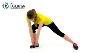 Fat Burning Low Impact Cardio Workout at Home - Easy on the Joints Quiet Cardio Training