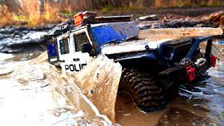 Rc Police Car vs Ice Extreme Off Road Driving